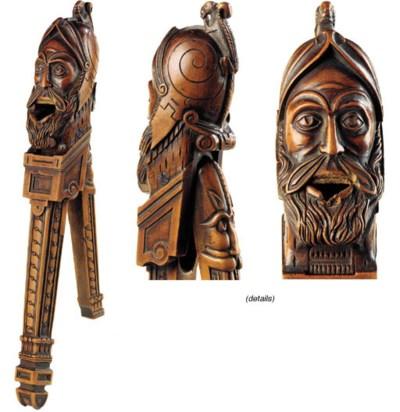 A box wood figural nutcracker,