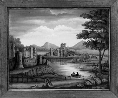 An English naive landscape pai