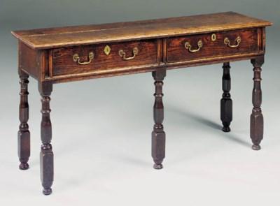 An oak dresser, English, 18th