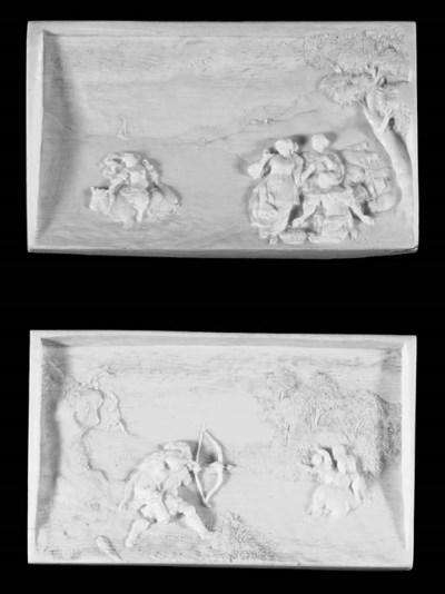 A pair of Flemish relief carve