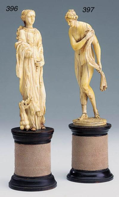 A German carved ivory figure o