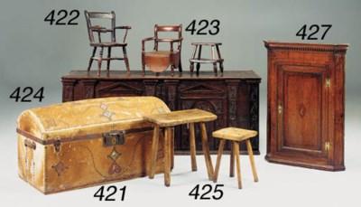 A large oak chest, German, 18t