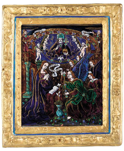 A Limoges enamel plaque depict