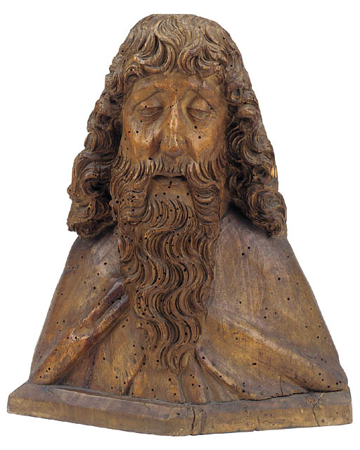 A Franconian carved wood bust