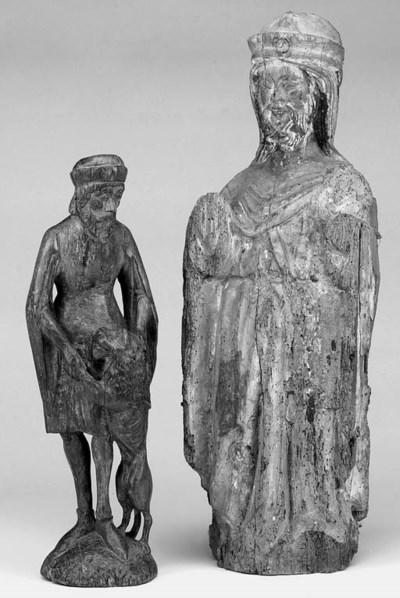 A German carved wood figure of