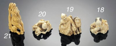 An ivory netsuke of a child 19