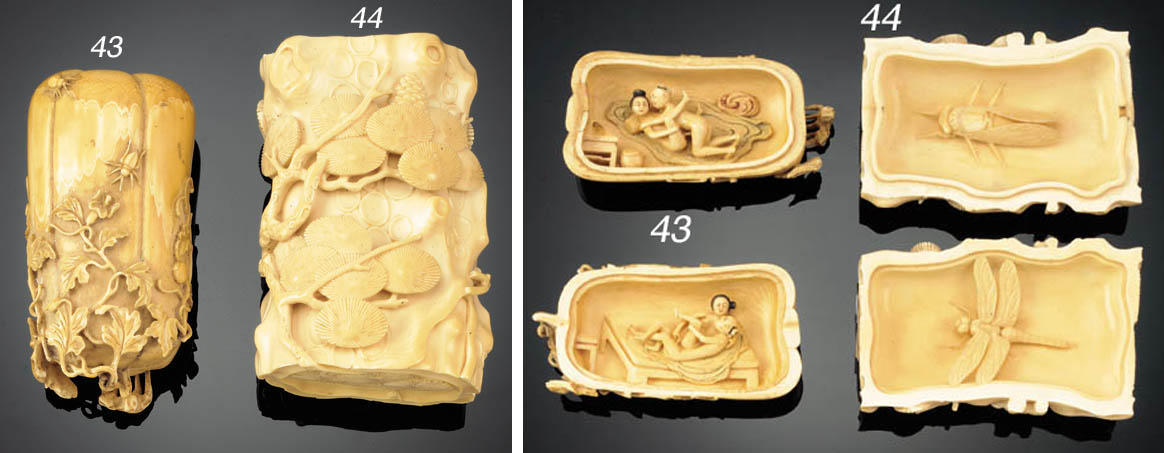 An ivory box and cover simulat