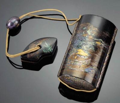 A Nagasaki four-case lacquer i