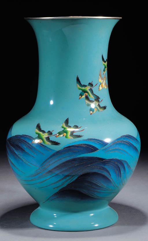 A large cloisonne vase Meiji P