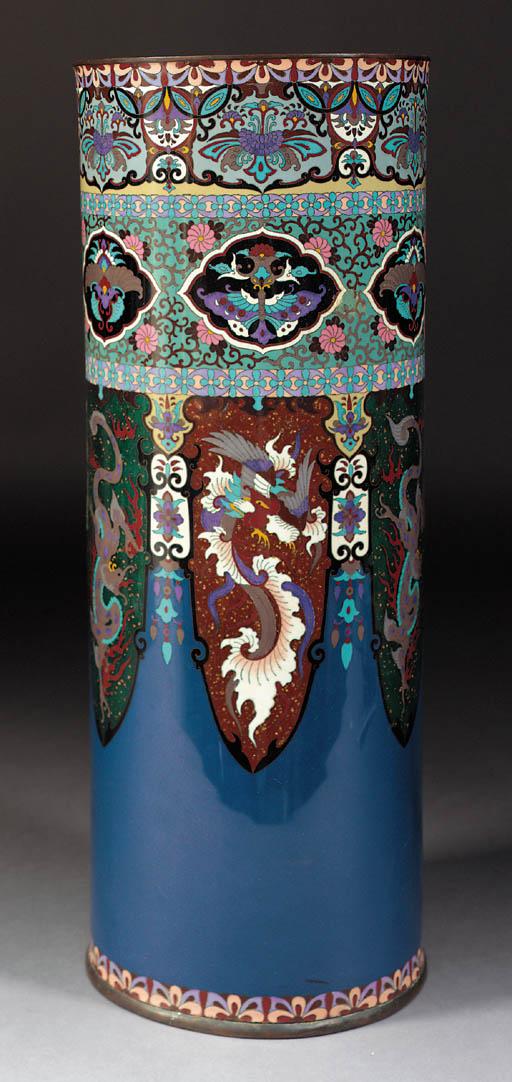 A cloisonne stick stand Meiji