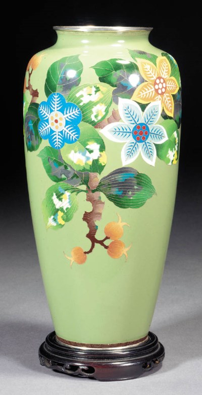 A cloisonne tapering vase 20th