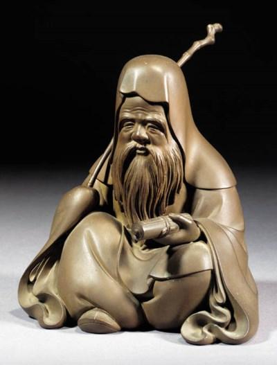 A bronze figure of Jurojin Ear