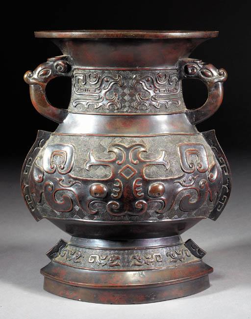 An archaic style bronze vase 1