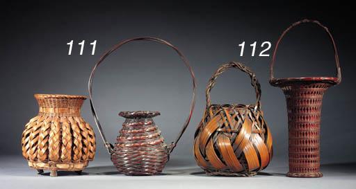 An ikebana basket 19th Century