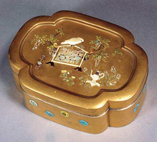 A Shibayama style lacquer box