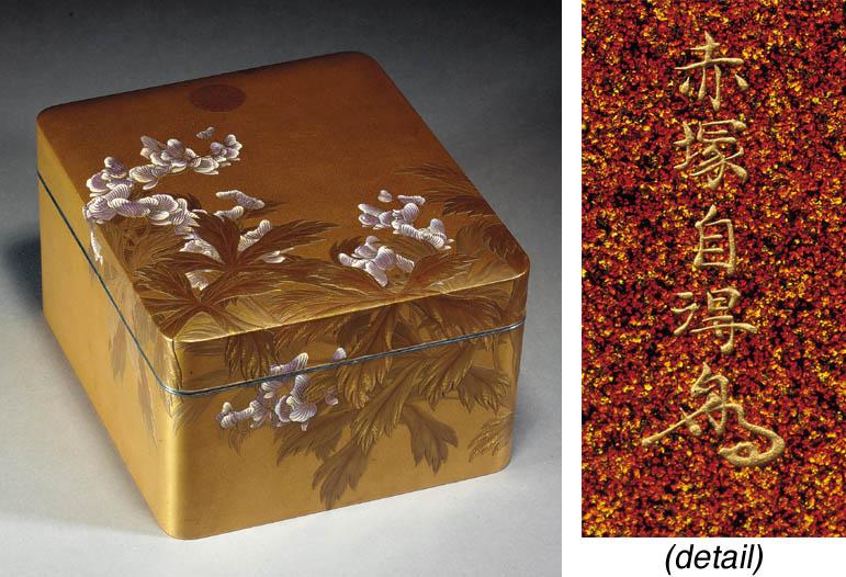A fine lacquer accessory box,