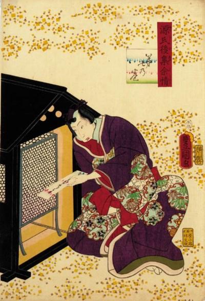 Kunisada (Toyokuni III), three