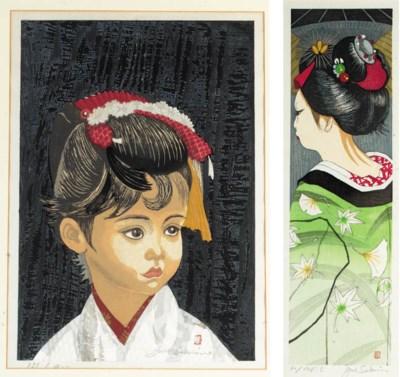 Jun Sekino a woodblock print
