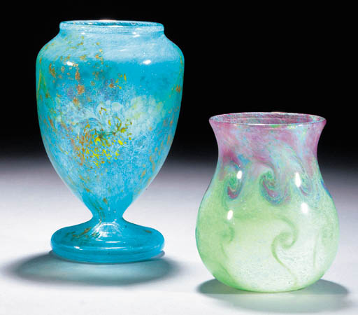 A Monart footed vase