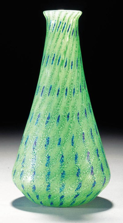A Monart surface decorated vas