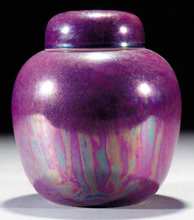 A Ruskin purple lustre ginger