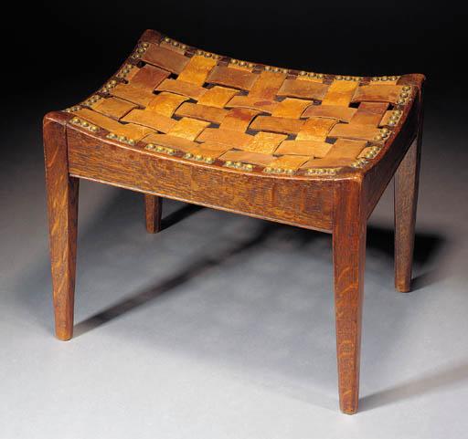 An Arthur Simpson Oak footstoo