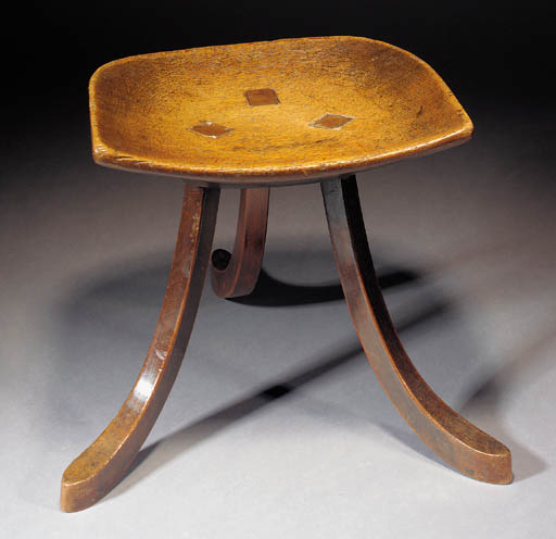 An Oak Thebes stool