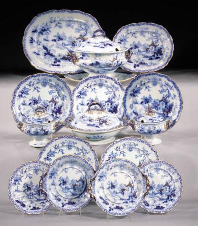 An English Ironstone China blu
