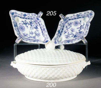 Two Meissen (Marcolini) blue a