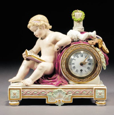A Meissen clock case