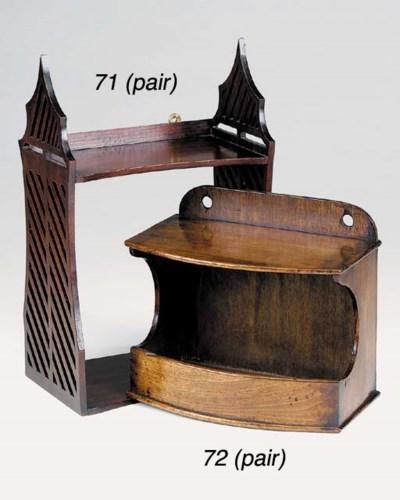 A pair of English mahogany han