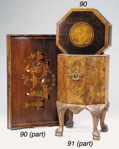An Edwardian mahogany tray, ea