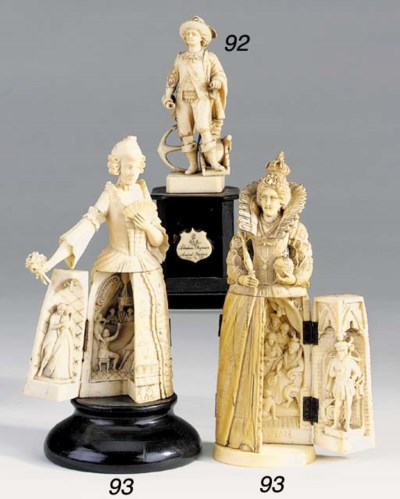 A Dieppe carved ivory triptych