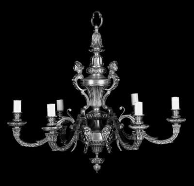 A Régence style gilt bronze si