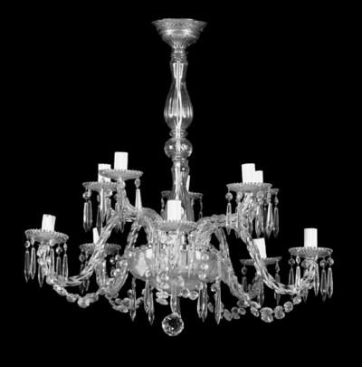 A Continental glass ten light