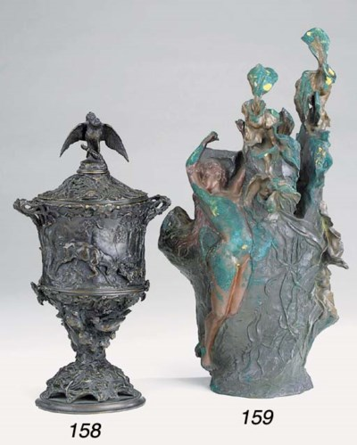 A French bronze urn, third qua