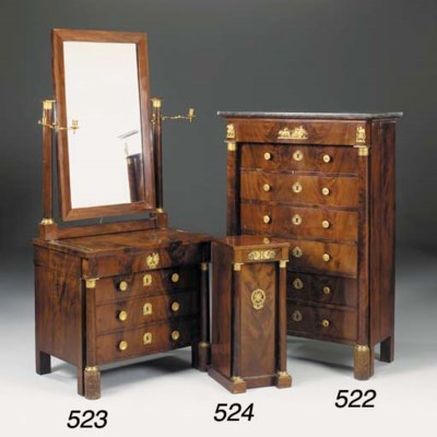 A French mahogany and gilt met