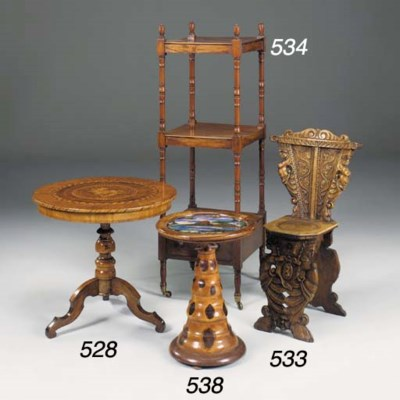 A pair of walnut hall chairs,