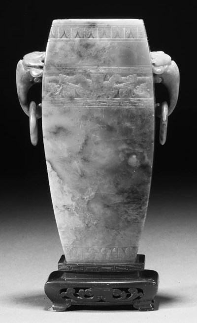 A Chinese soapstone vase 19th