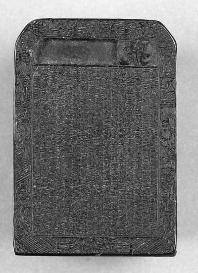 A Rhino horn seal 19th Century