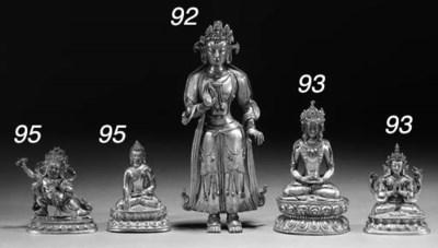 A Sino-Tibetan gilt bronze Bud
