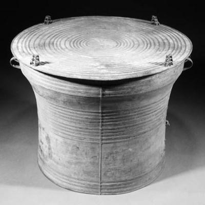 A bronze Chinese rain drum 18t