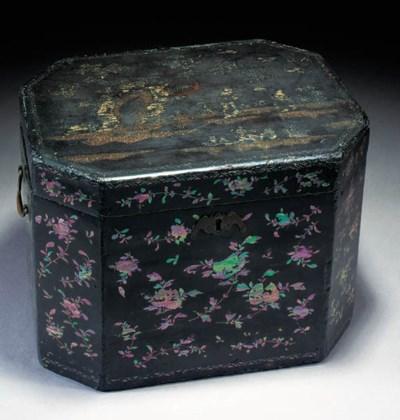 A Chinese lac de bergaute box