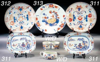 A pair of Chinese Imari charge