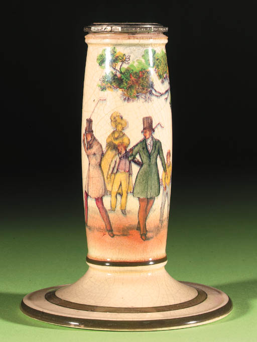 A ROYAL DOULTON CHAMBER CANDLE