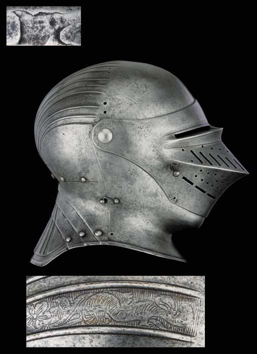 A Rare German Close-Helmet, At