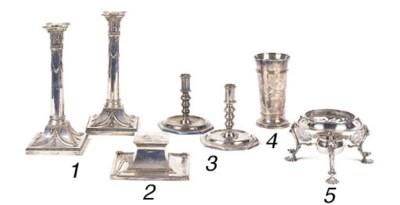 A late Victorian silver beaker