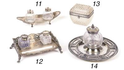 A Dutch silver mounted cut-gla
