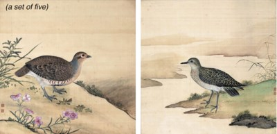 A set of five Chinese painting