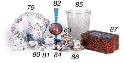 A pair of English porcelain ta